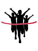 Rotes Band Sport 3 Läufer Ren...