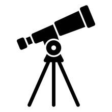 Telescope Solid Vector Icon