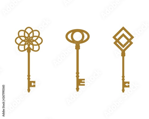 Fotomural key icon vector illustration