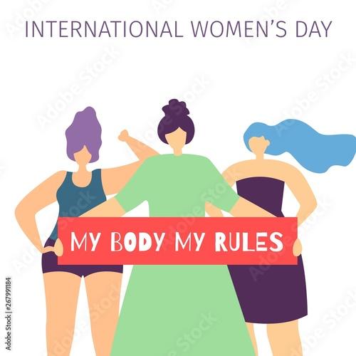 Fotografía My Body My Rules Quote