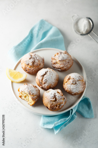 Homemade lemon cottage cheese muffins - Buy this stock photo