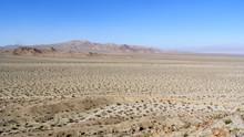 A Barren Desert Landscape.