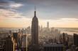 Sunset view of New York City.