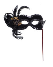 Black Theatrical Mask With Fea...