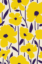 Tropical Flowers Minimal Pattern