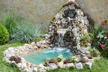 Beautiful Fontain In The Garden