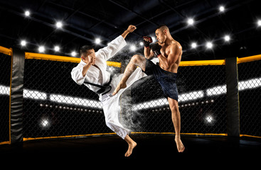 MMA boxers fighters fight i...