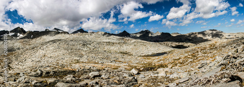 Pacific Crest Trail in Summer Crossing Donohue Pass Between Ansel Adams Wilderne Wallpaper Mural
