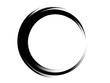 Grunge circle made with black paint.Grunge ink circle.Grunge oval shape.