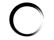 Grunge circle.Grunge oval element.Grunge black logo.