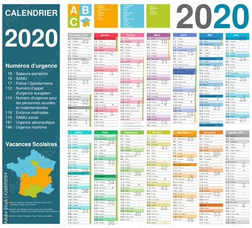 Calendrier 2020 Avec Photos.Calendrier 2020 14 Mois Avec Vacances Scolaires Officielles