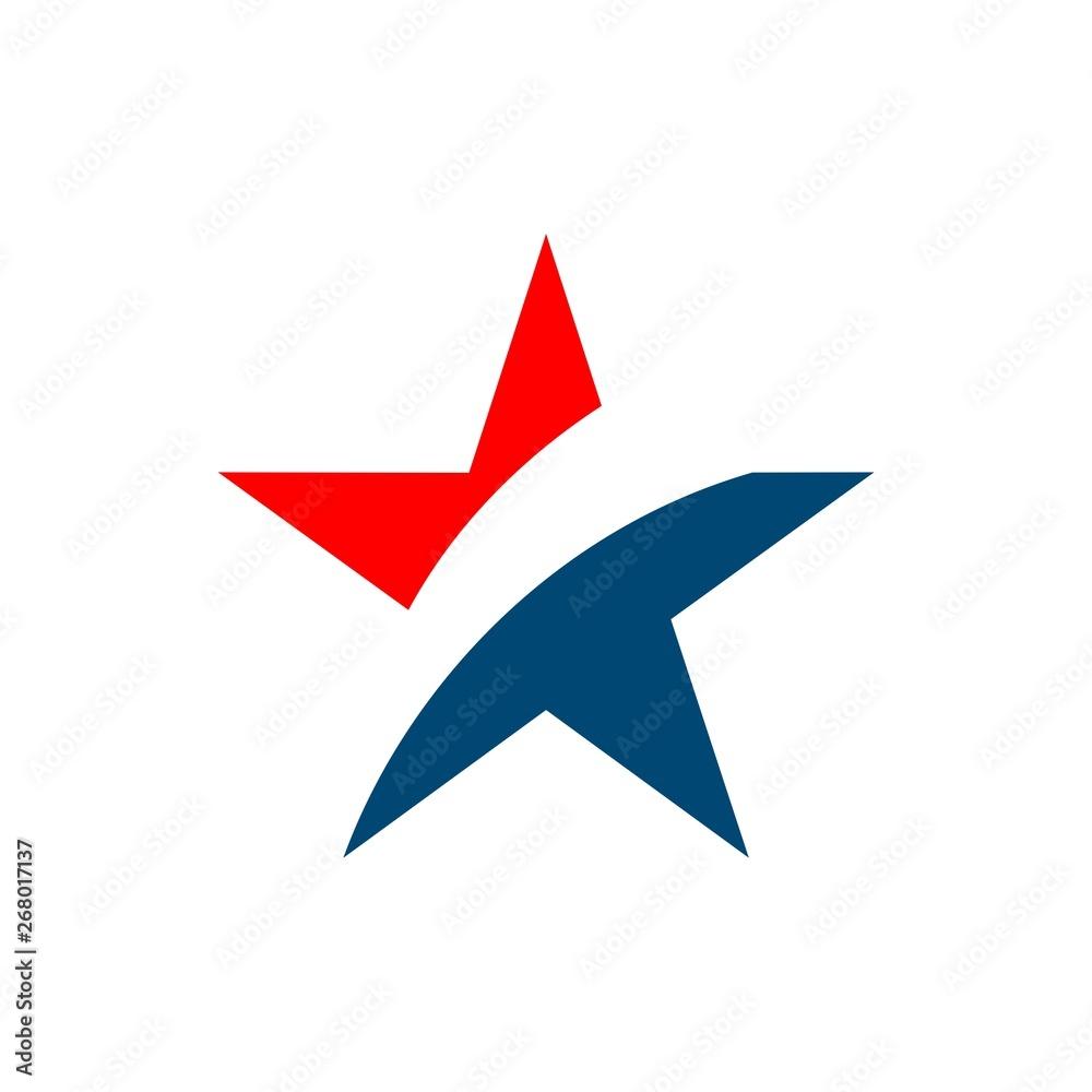 Fototapety, obrazy: Star Patriotic Logo Vector Template