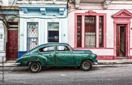habana vintage car, american classic car, cuba, Habana, American Vintage Cars, c Canvas Print