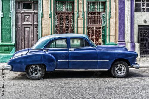Poster Havana habana vintage car, american classic car, cuba, Habana, American Vintage Cars, cuban cars, classic cars, lifestyle car