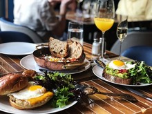 Brown Breads And Sunny Side Up Egg