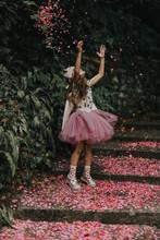 Girl In Pink Tutu Dress Catchi...
