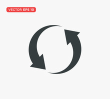 Rotation Arrow Icon Vector Ill...