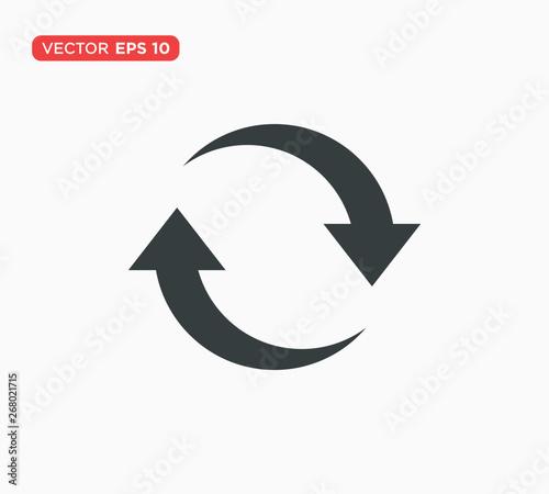 Obraz na plátně  Rotation Arrow Icon Vector Illustration