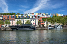 Looking Across The Floating Harbour To Harbourside And Hotwells In Bristol