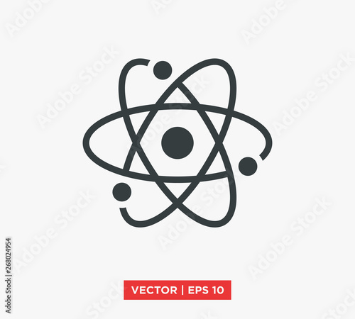 Fotografia Atom Icon Symbol Vector Illustration