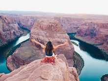 Woman Watching Grand Canyon View During Daytime