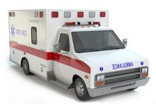 Ambulance Isolated On White Ba...