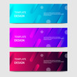 Vibrant gradient and futuristic background template for headline and header banner. Suitable for social media, web, blog, website