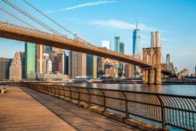 Amazing Panorama View Of New York City And Brooklyn Bridge