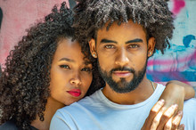 Handsome Black  Young Couple O...