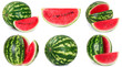 canvas print picture - Fresh watermelon on white background