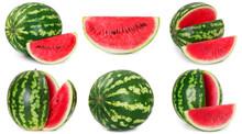 Fresh Watermelon On White Back...