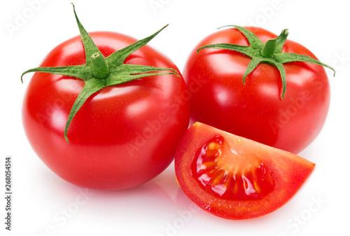 Fototapeta Fresh tomato on white background obraz