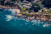 Aerial View Of Tide Pools And ...