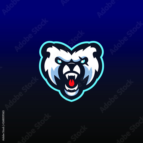 Photo  Bear eSports mascot logo