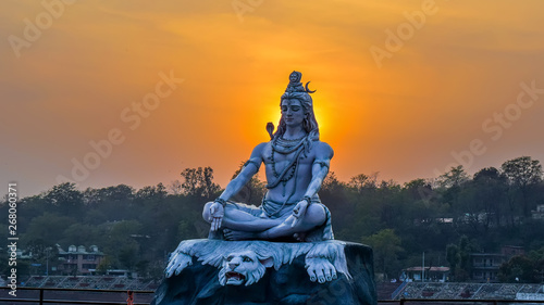 Fotografie, Obraz God shiva statue Rishikesh