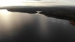morning flight on the Poland lake, autumn​ morning, slowly pan up