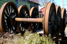 Rostige Eisenbahnräder Lagern...