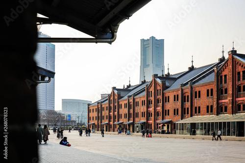 Valokuva  赤レンガ倉庫とランドマークタワー