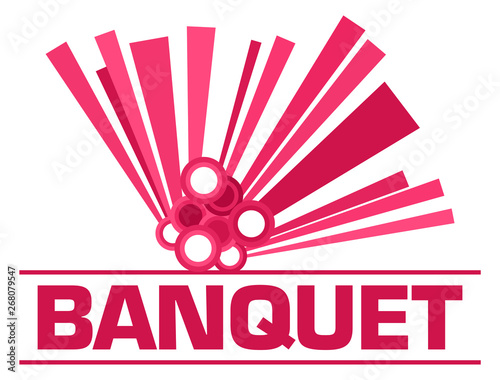 Poster Individuel Banquet Pink Graphical Element Text