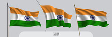 Set Of India Waving Flag On Is...