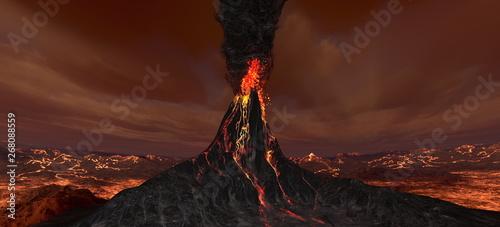 Valokuvatapetti 火山