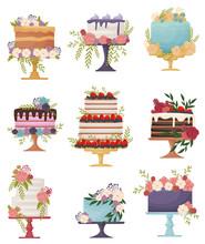 Set Of Beautiful Festive Cakes...