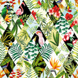 canvas print picture - Exotic seamless pattern, patchwork