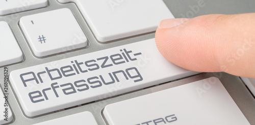 Foto Tastatur mit beschrifteter Taste - Arbeitszeiterfassung