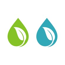 Natural Drop Water Spa Logo Te...