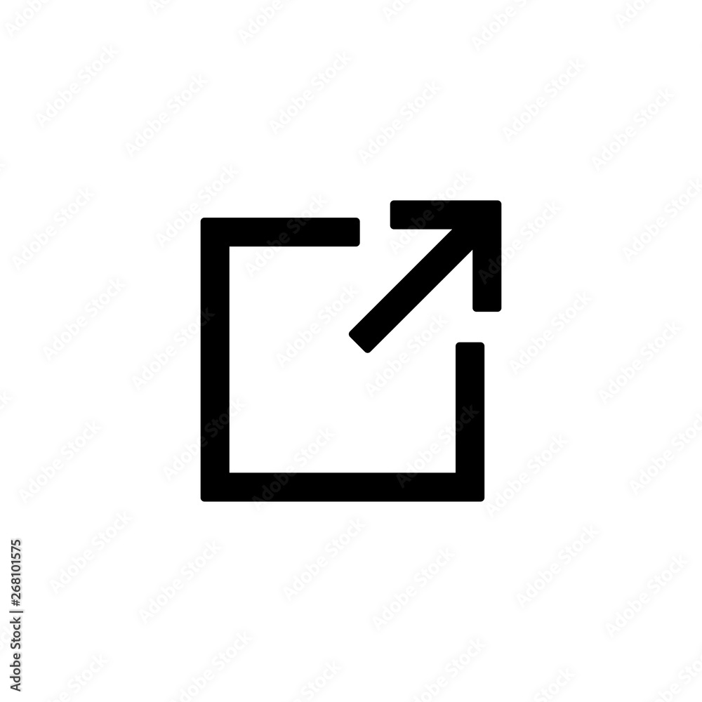 Fototapety, obrazy: external link icon, linear icon symbol vector