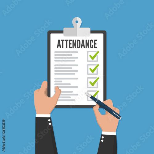 Attendance concept Canvas Print