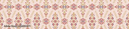 Foto auf AluDibond Boho-Stil African Ethnic Vector Seamless Pattern
