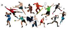 Sport Collage. Tennis, Running...