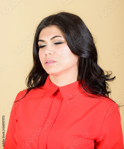Fotografie, Obraz  Woman pretty brunette girl makeup face